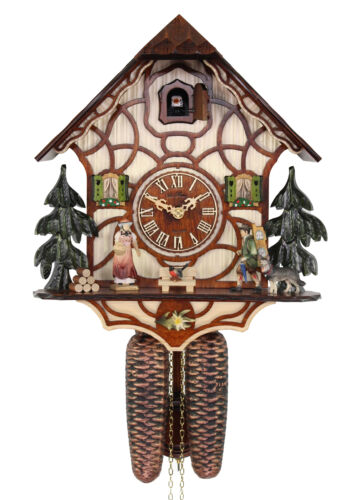Adolf Herr Cuckoo Clock - Black Forest TRADITIONAL BROWN AH 301/1 8T NEW