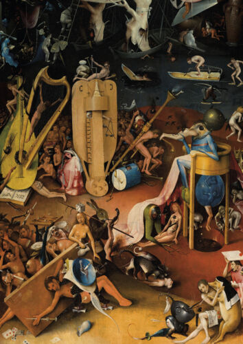 Hieronymus Bosch - The Hell - HUGE A1 size 59.4x84cm Canvas Print Unframed