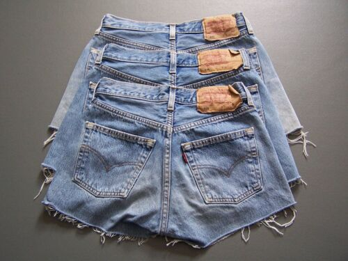 Levis 501 Shorts A Grade  Denim High Waisted size 6 -20 <br/> 3000+ pairs sold Grade A ladies vintage shorts Free P&P