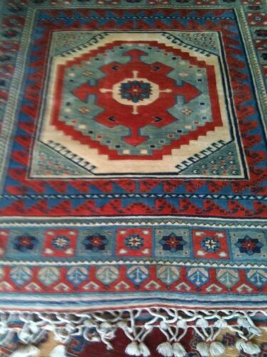 Caucasian Nomad Hand Knotted Hand Spun Virgin Wool Vegetable Dyes Area Rug 6x7