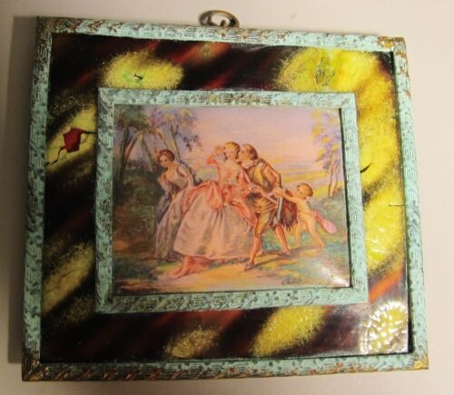 Fine Miniature French Enamel on Copper Painting  c. 1850  Antique