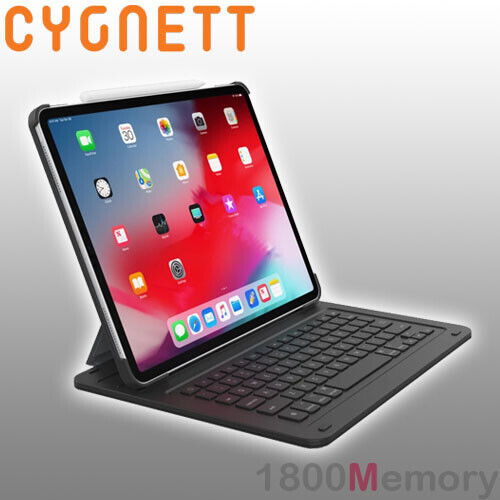 "GENUINE Cygnett Smart Keyboard Case QWERTY for Apple iPad Pro 11"" / 12.9"" Black"