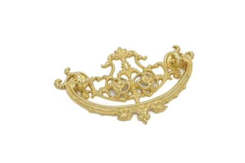 """ANTIQUE STYLE VICTORIAN PULL DRAWER PULL 3"""" CC SOLID CAST BRASS"""