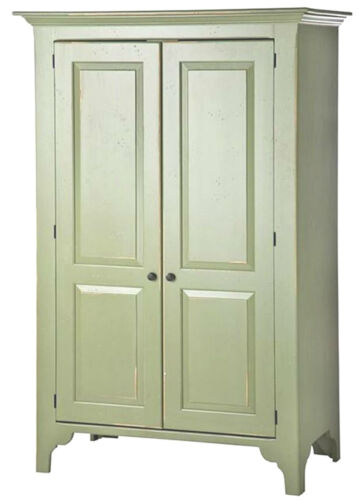 Large New England Pine Armoire, drawers & shelves, USA made Antique Reproduction