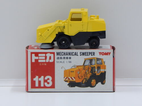 1:66 Mechanical Sweeper (Yellow) - Made in Japan Tomica 113