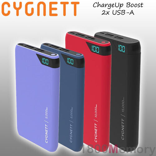 GENUINE Cygnett ChargeUp Boost USB-A USB A 2.4Amp Power Bank Portable Battery