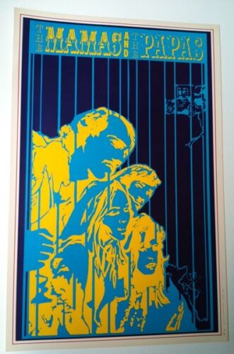 MAMAS AND THE PAPAS POSTER SALADIN SERIES ORIGINAL '67