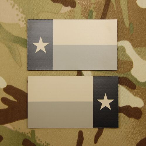 Infrared Texas State Flag Patch Set AOR1 IR US Army Navy SEAL DEVGRUArmy - 48824