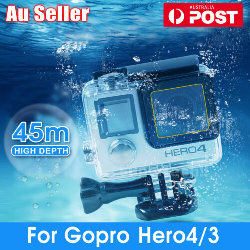 Waterproof Diving Protective Housing Clear Case For GoPro Hero 4 3+ 3 Go Pro OZ