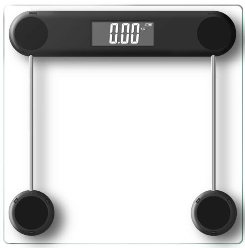 Electronic Digital Backlit Glass Body Bathroom Scale 180KG scales Gym Weight