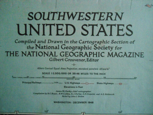 OLD SCHOOL WALL MAP- NORTH WESTERN UNITED STATES  - NATIONAL GEOGRAPHIC