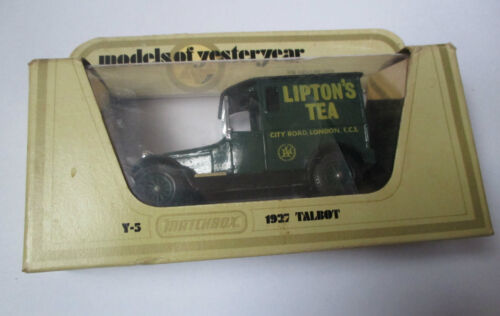 Voiture miniature / Talbot 1927 Lipton (matchbox Y-5 1978 models of yesterday)