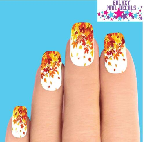 Waterslide Full Nail Decals - Set of 10 Fall Autumn Leaves