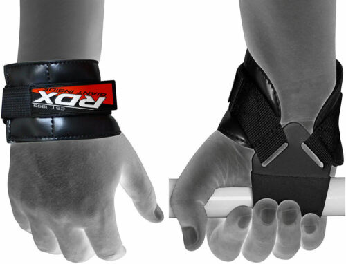 RDX Weight Lifting Grips Training Gym Palm Protector Straps Gloves Wrist Fitness