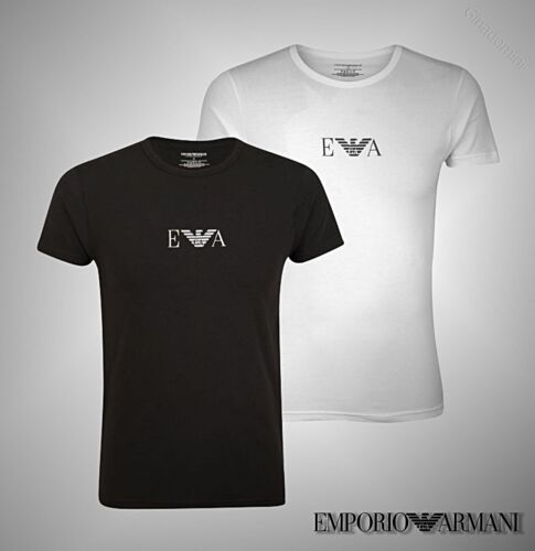 Mens Emporio Armani Short Sleeves Top Underwear T Shirt Sizes from S to XXL