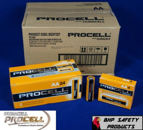 AA DURACELL PROCELL PROFESSIONAL ALKALINE BATTERIES (144 PACK) EXP DATE 2024