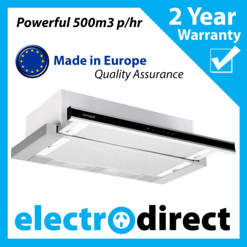 BRILCON 90cm Slide Out Rangehood Stainless Steel Range Hood 900mm with LED light <br/> Full 2 Year Warranty - Retracting Retractable Powerfull