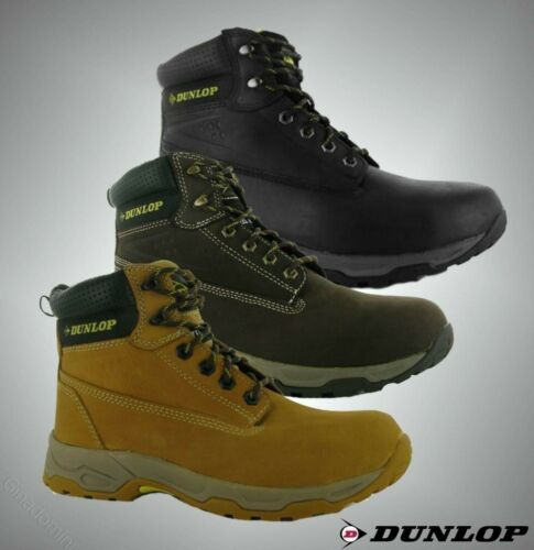 New Mens Dunlop Workwear Safety On Site Boots Lace Up Footwear Sizes 6-12
