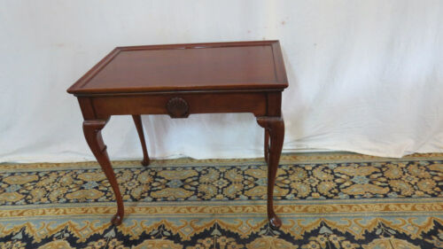 Hickory Chair Tea Side Table Stand Mahogany