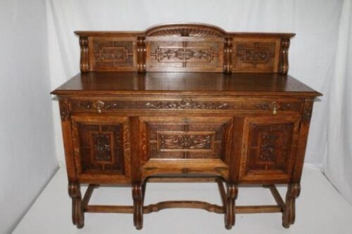 French Oak Sideboard Buffet with Fabulous Carvings, Circa19th c