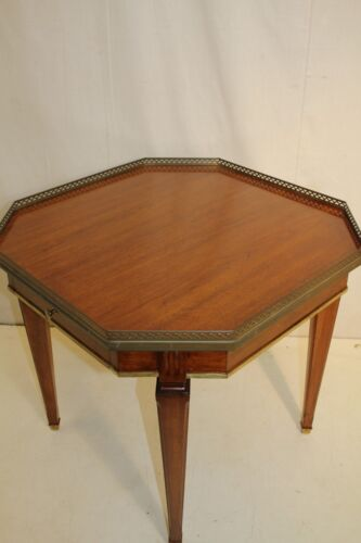 Great Directoire Walnut Octagonal Top End Side Table, One Drawer