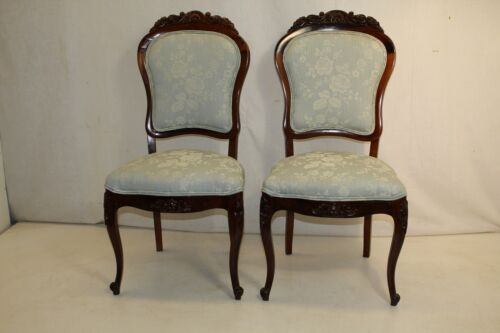 Gorgeous Pair of american  Rosewood  Side Chairs, New Upholstery