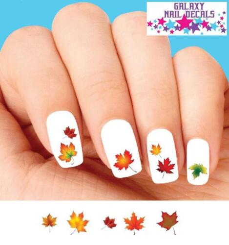 Waterslide Nail Decals - Set of 20 Thanksgiving Fall Autumn Leaves Assorted