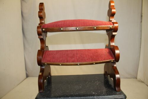 Antique Gothic Walnut Two Tier Foot Rest Foot Stool, 19th Century