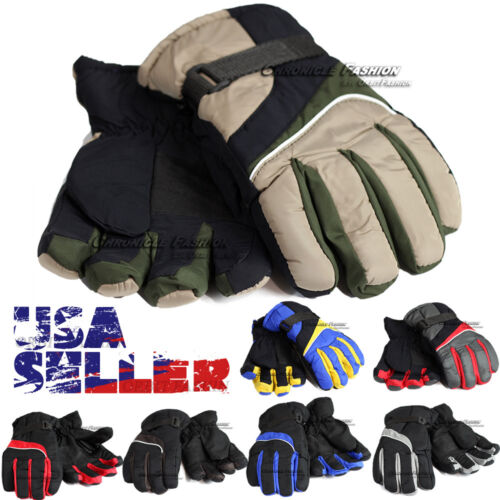 Winter Gloves Thermal Wind Waterproof Ski Warm Snowboard Outdoor Sports Men's