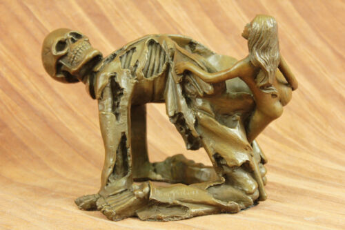 Handcrafted bronze sculpture SALE Death Of Angel With Female Nude Quality High