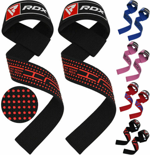 RDX Weight Lifting Straps Wrap Gym Wrist Training Support Grip Bandage Hand Bar