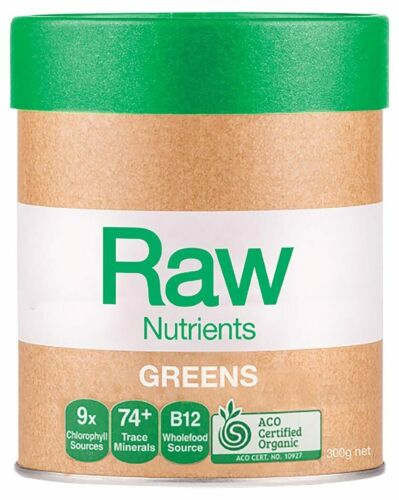 Organic Raw Prebiotic Greens 300g - Amazonia