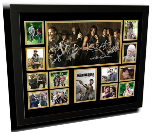 THE WALKING DEAD SIGNED LIMITED EDITION FRAMED MEMORABILIA