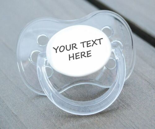 PINK HEART PERSONALISED DUMMY PACIFIER SOOTHER,ALL TEATS,SIZES /& COLOURS