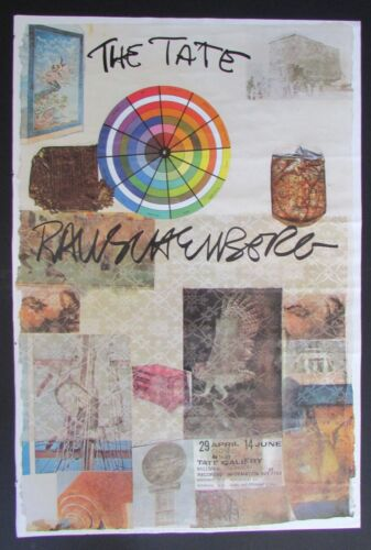 "VTG 1981 Robert Rauschenberg Collage "" The Tate""  Poster"