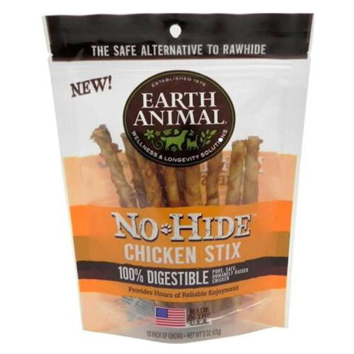EARTH ANIMAL DOG NO HIDE CHICKEN SMALL 10PK FREE SHIPPING