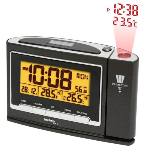 Projection Clock Wireless Thermometer outside temperature WT 529 Alarm dcf-77