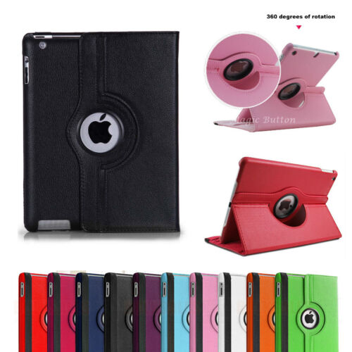 For iPad 2 3 4 5 6 7 8 Air 1 2 3 Rotate Case Smart Leather Shockproof Cover