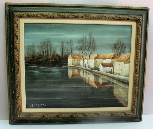 Fine Original French Oil Painting  JEAN PIERRE CAPRON  c. 1963  Mid-Century