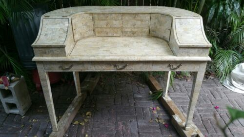 STRIKING VINTAGE MAITLAND SMITH TESSELLATED STONE CARLTON HOUSE DESK - P