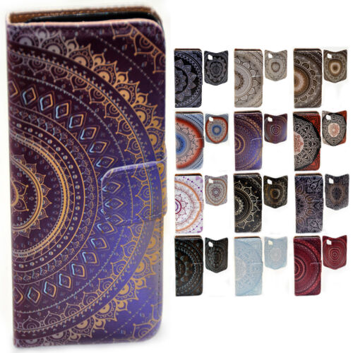 For Sony Xperia Series - Mandala Print Pattern Wallet Mobile Phone Case Cover