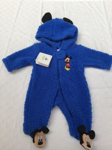 Disney Baby Mickey Mouse All In One Blue Sleeping Coverall Size 000