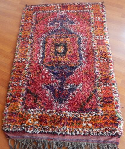 Handmade Long Pile Turkish Konya Tulu Rug ,Area Carpet Rare Authentic Yatak Rug