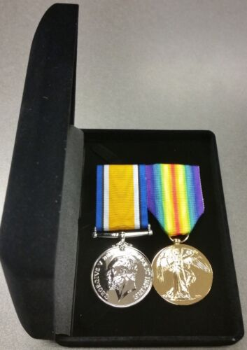 World War One Replica Medals Pair - Full Size - In Presentation Box