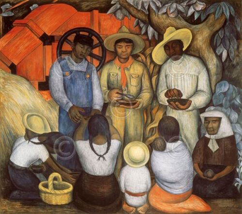 Diego Rivera Triumph of the Revolution Distribution of Food Print Poster 30x27