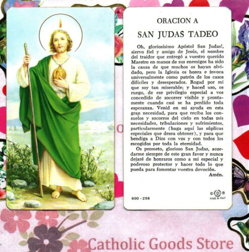 San Judas - Oracion A San Judas Tadeo - Spanish  - Paperstock Holy Card