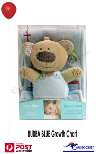 Bubba Blue Premium Collection Friends Forever Baby Growth Chart Teddy Bear BNIB