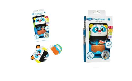 PLAYGRO First Friends Gift Pack Baby Teather Toy and Rattle BNIB Learn BPA Free