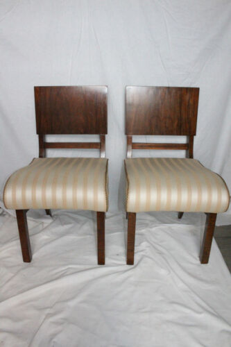 Pair of Biedermeier Walnut  Side End Chairs, 19th Century