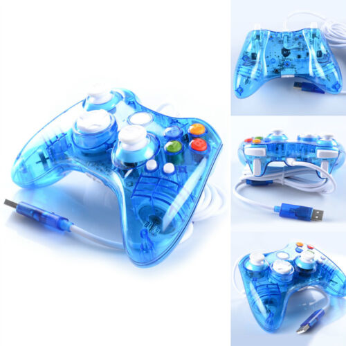 Afterglow LED Blue Wired Controller For Microsoft Xbox 360 USA Free Shipping